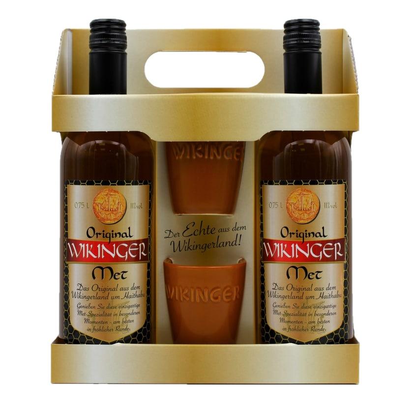 Original Wikinger Met Set 2x0,75l inkl. 2 Wikinger Met Becher 0,1l