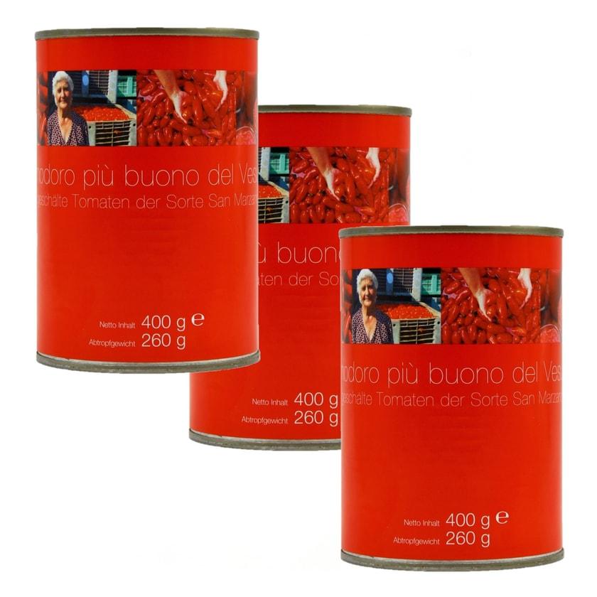 Pomodori pelati di San Marzano Vintage geschälte Tomaten 3 x 260g, 780g
