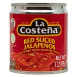 La Costeña Red Pickled Sliced Jalapenos rote Jalapenoscheiben 199g