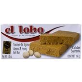 El Lobo Turron de Jijona Calidad Suprema Weiche Mandelnougattafel mit Honig 150g