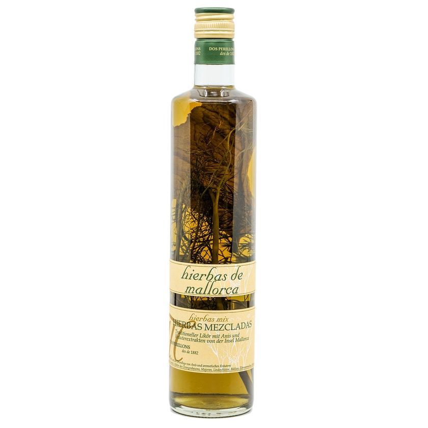 Dos Perellons Hierbas Mezcladas mit Zweig Kräuterlikör 0,7l