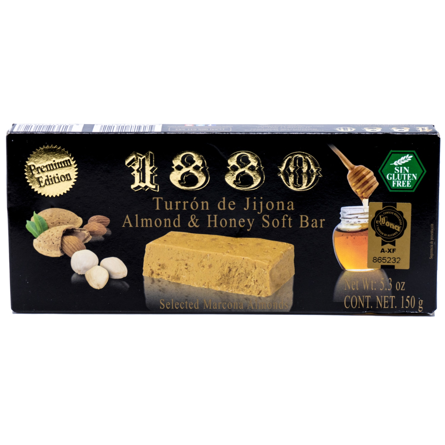 1880 Turron de Jijona Almond und Honey Soft Bar weiche Mandeltafel 50g