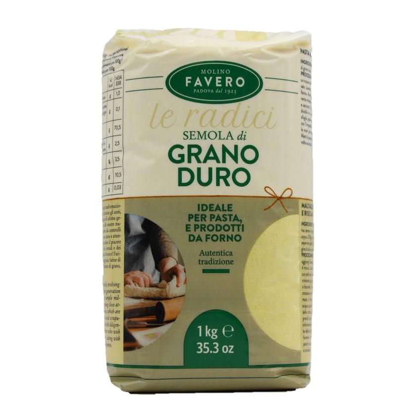 Molino Favero Semola di Grano Duro Hartweizengrießmehl 1kg