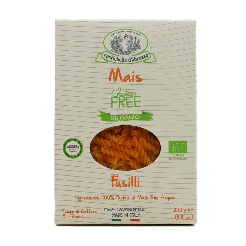 Rustichella Fusilli Maismehl-Nudeln glutenfrei 250g