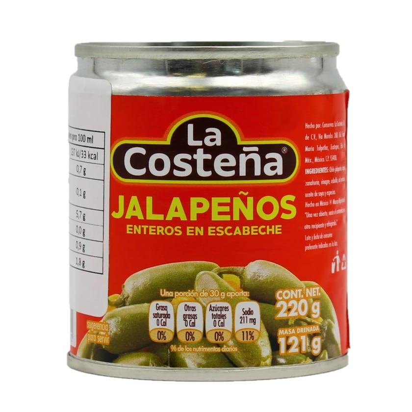 La Costeña Jalapeño Enteros ganz Ganze Jalapenos 121g