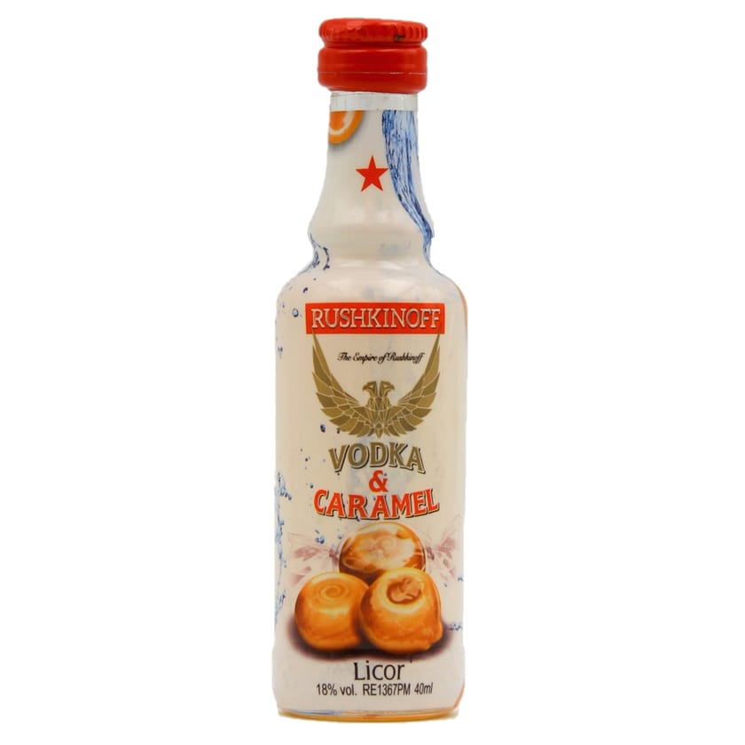 Rushkinoff Vodka & Caramel 40ml