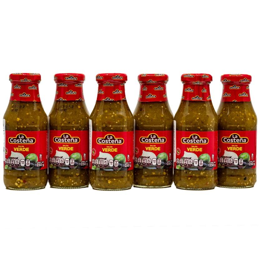 La Costeña Salsa Verde mittelscharfe grüne Soße 6x250g