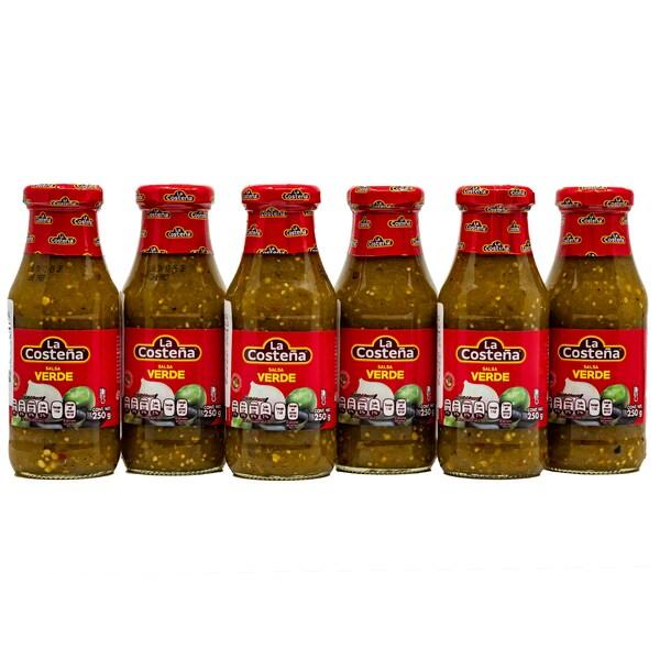 La Costena Salsa Verde mittelscharfe grüne Soße 6 x 250g, 1.500g
