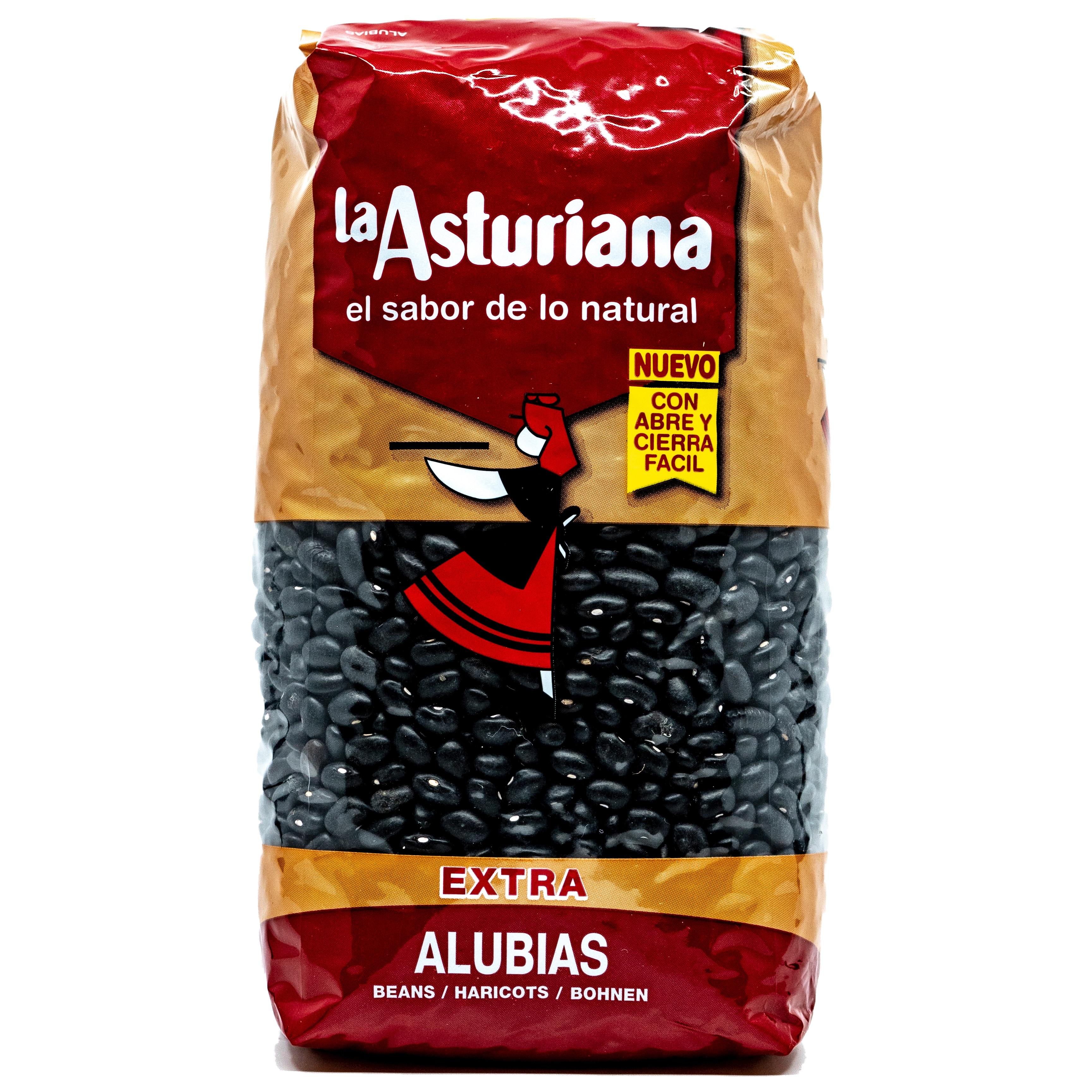 La Asturiana Alubias schwarze Bohnen 1kg