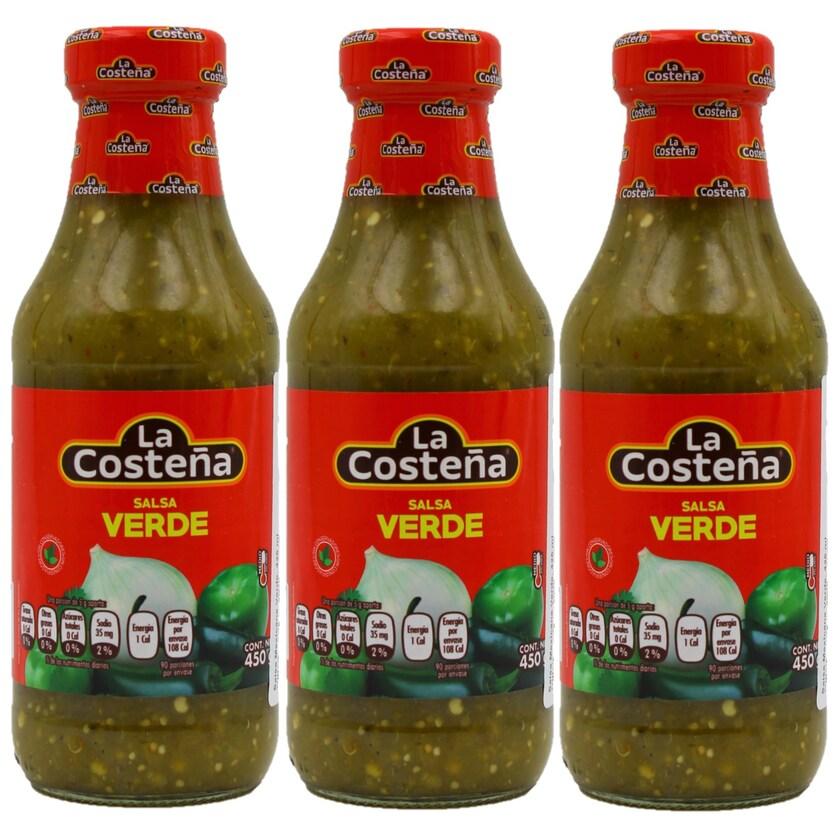La Costeña Salsa Verde mittelscharfe grüne Salsa 3x475g