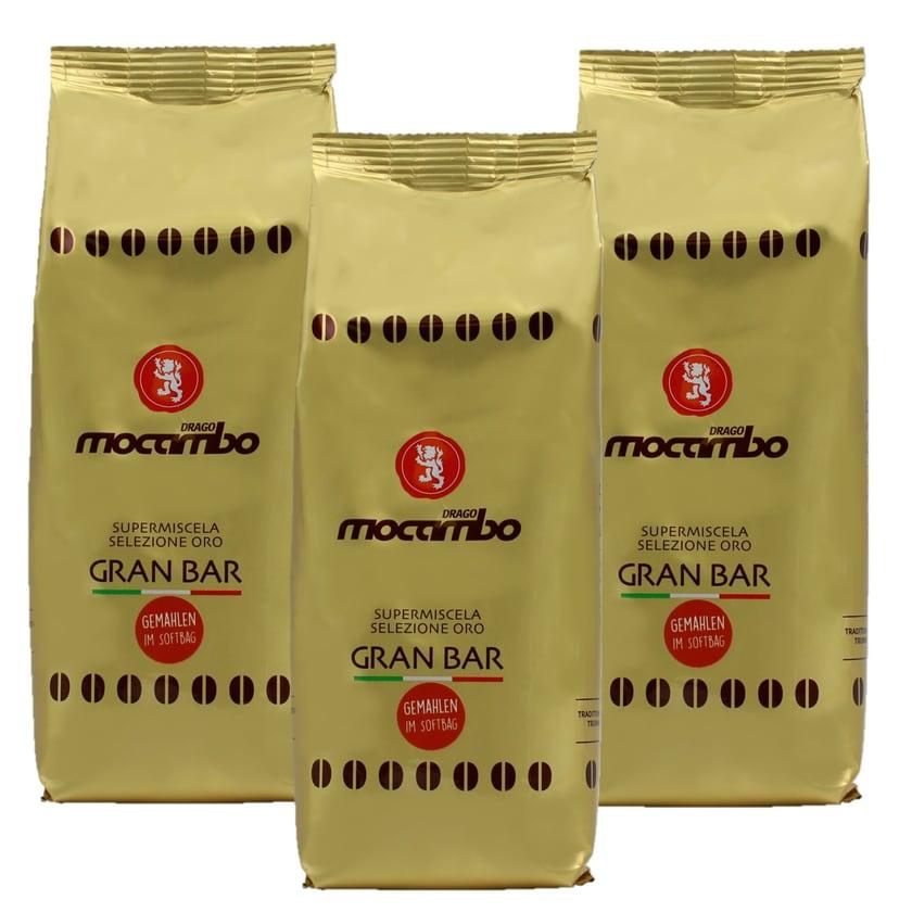 Mocambo Gran Bar Gold Selezione Oro Kaffee gemahlen 3x250g