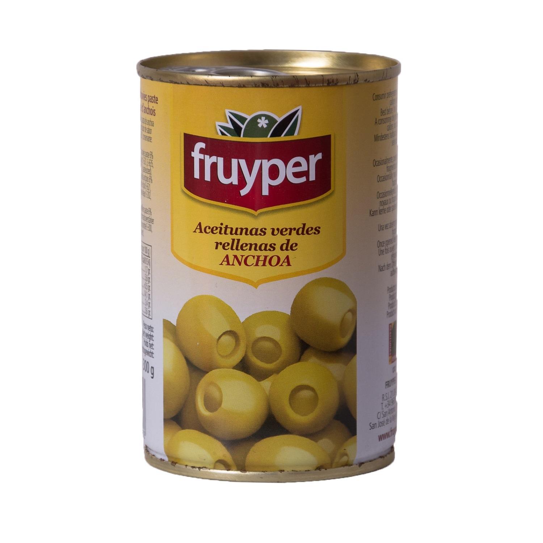 Fruyper Aceitunas verdes rellenas de Anchoa Grüne Oliven mit Sardellenpaste 130g