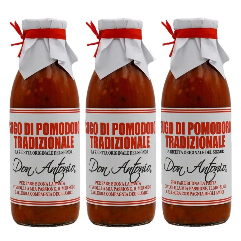 Don Antonio Sugo Tradizionale Tomatensauce mit Oregano 3 x 480ml, 1.440ml
