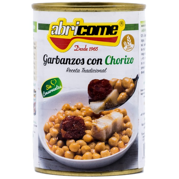 Abricome Garbanzos con Chorizo Kicherebseneintopf mit Wurst 420g