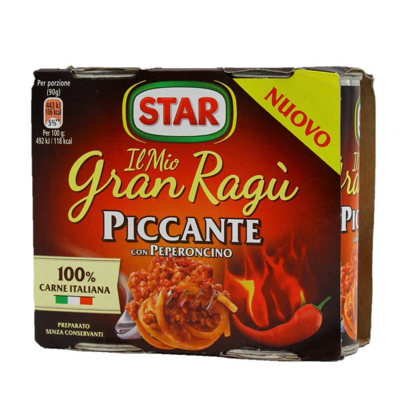 Star Gran Ragú Piccante con Peperoncino Ragout mit Chilli 2 x 180g