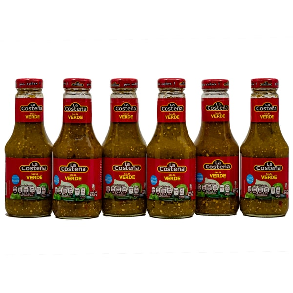La Costena Salsa Verde mittelscharfe grüne Salsa 6 x 475g, 2.850g