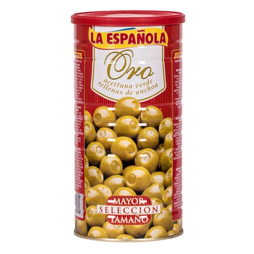 La Española Grüne Oliven mit Sardellen 600g