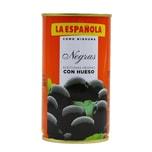 La Española Aceitunas negras con Hueso schwarze Oliven mit Stein 185g