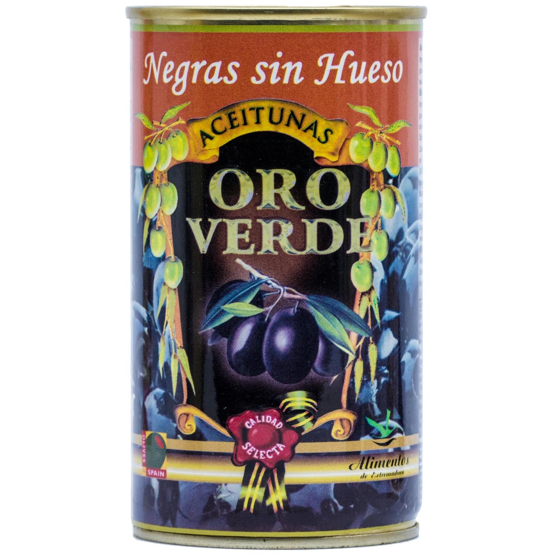 Oro Verde Schwarze Oliven ohne Stein 150g