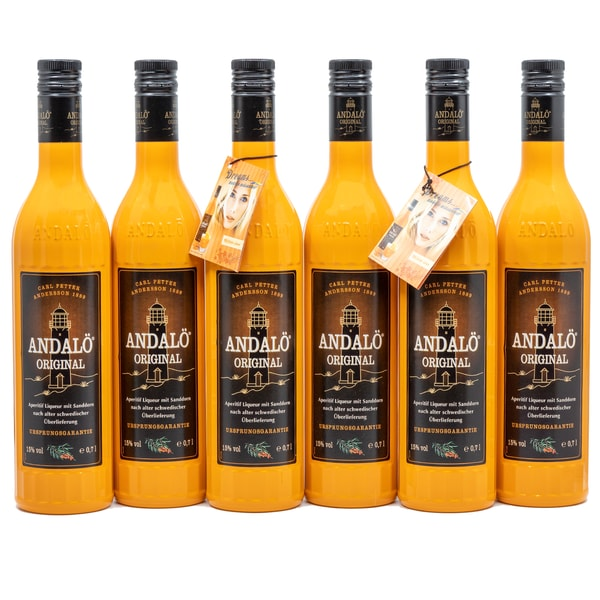 Andalö Original Liqueur mit Sanddorn 3x0,7l