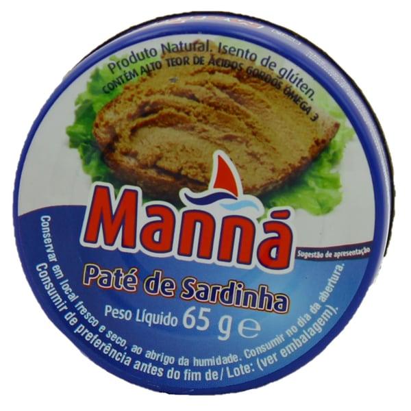 Manná Paté de Sardinha Sardinenpastete 65g