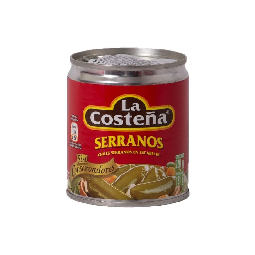 La Costeña Serranos en escabeche eigelegte Serrano-Chili 121g