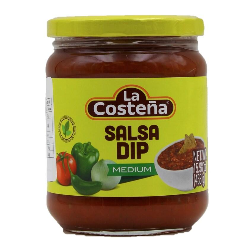 La Costena Mittelscharfe Salsa Dip Soße 453g