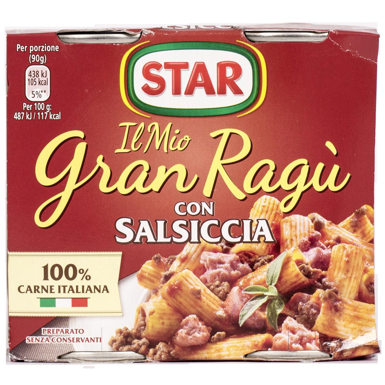 Star Gran Ragu Salsiccia Tomatensauche mit Wurst 360g
