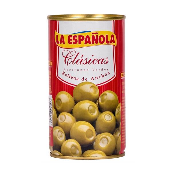 La Española Grüne Oliven gefüllt mit Sardellen 150g