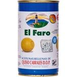 El Faro Gefüllte Oliven mit Edelschimmelkäse 150g