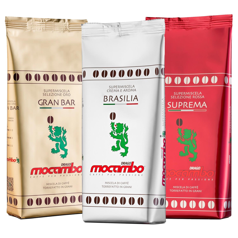 Mocambo Kaffee-Set GranBar Brasilia Suprema 750g