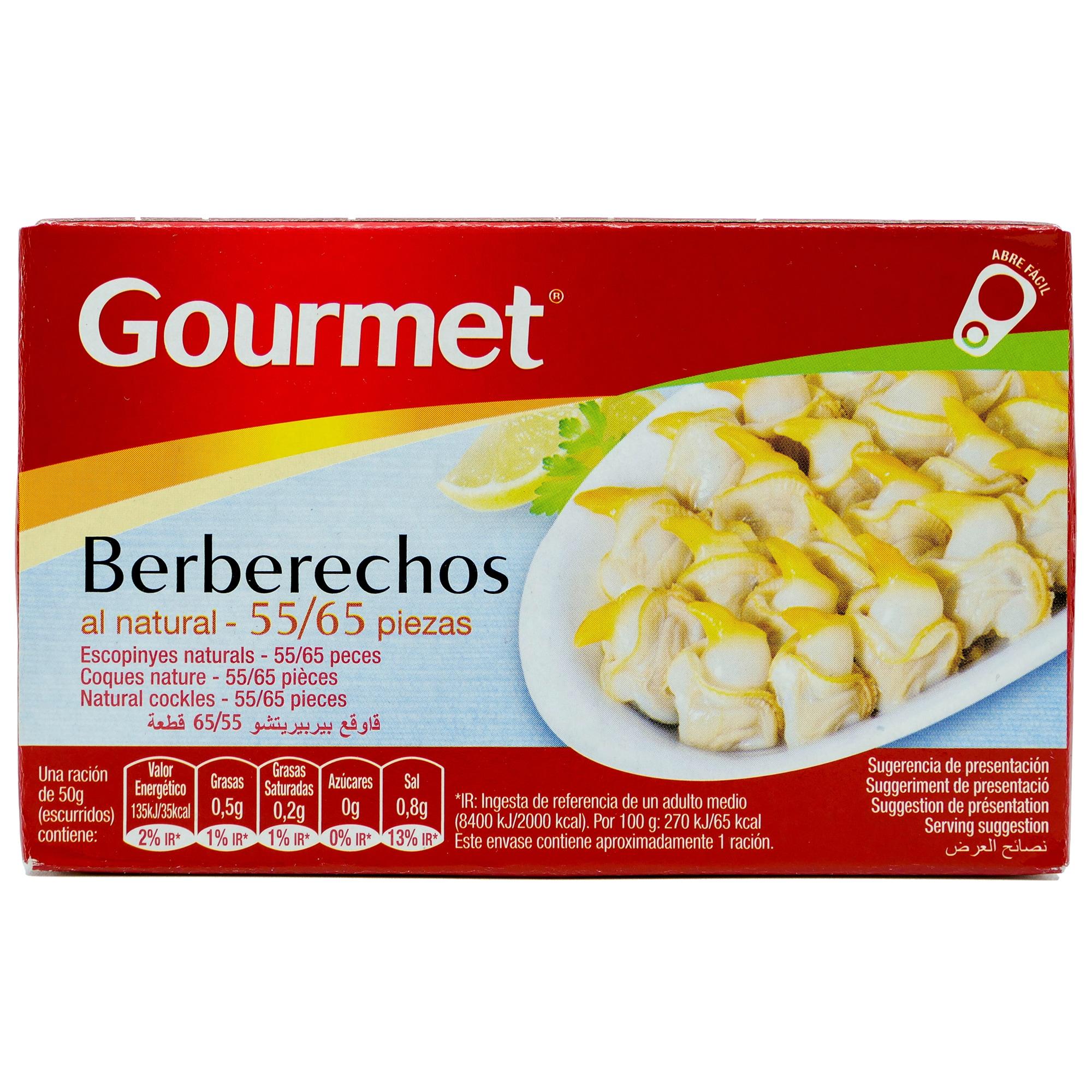 Gourmet Berberechos al natural Herzmuscheln in eigenem Saft 58g