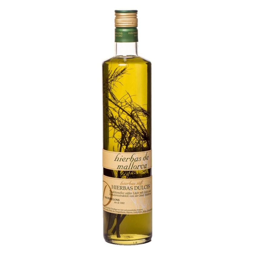 Dos Perellons Hierbas Dulces Kräuterlikör süß mit Zweig 700ml