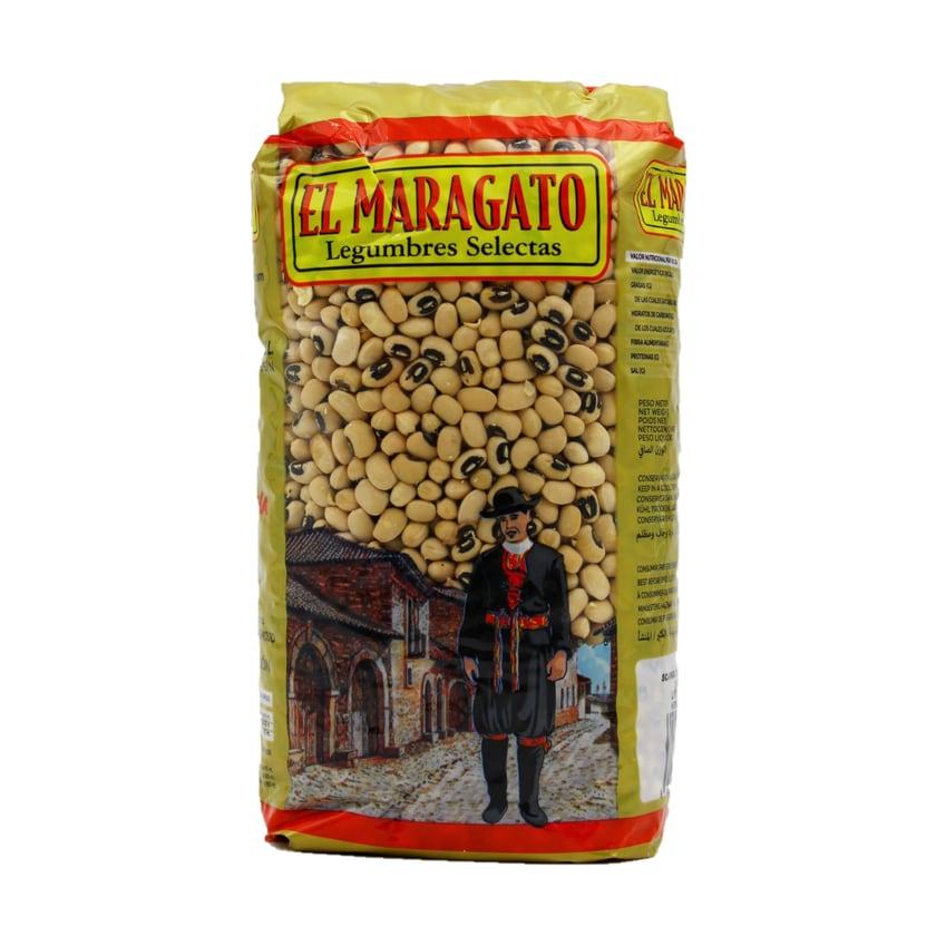 El Maragato Alubias Carillas Schwarzaugenbohnen 1kg