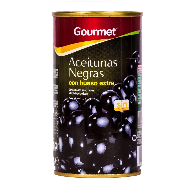 Gourmet schwarze Oliven mit Kern 185g