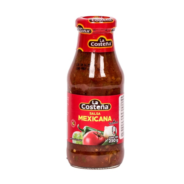 La Costeña Salsa Mexicana Casera mittelscharfe grobstückige Sauce 250g