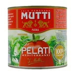 Mutti Pelati Mediterranei geschälte Tomaten in Tomatensaft 1,5kg