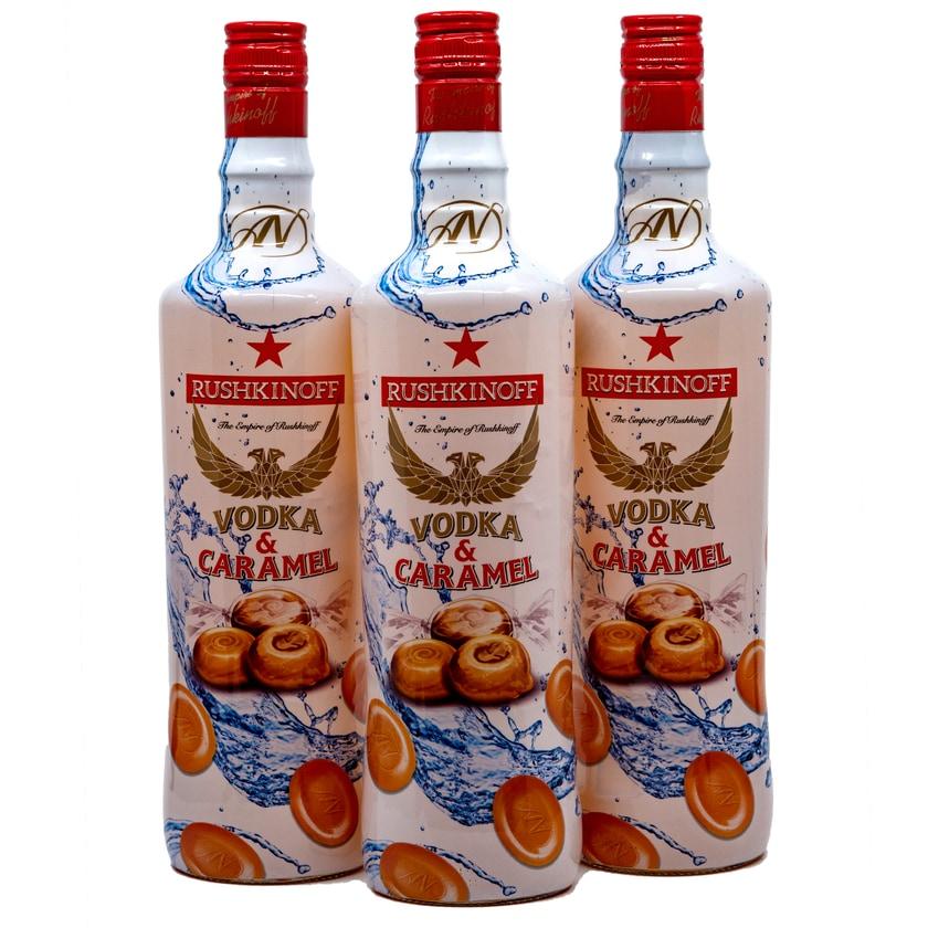 Rushkinoff Vodka & Karamell 3x0,7l