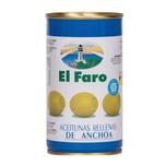 El Faro Manzanilla Oliven gefüllt mit Sardellen 150g