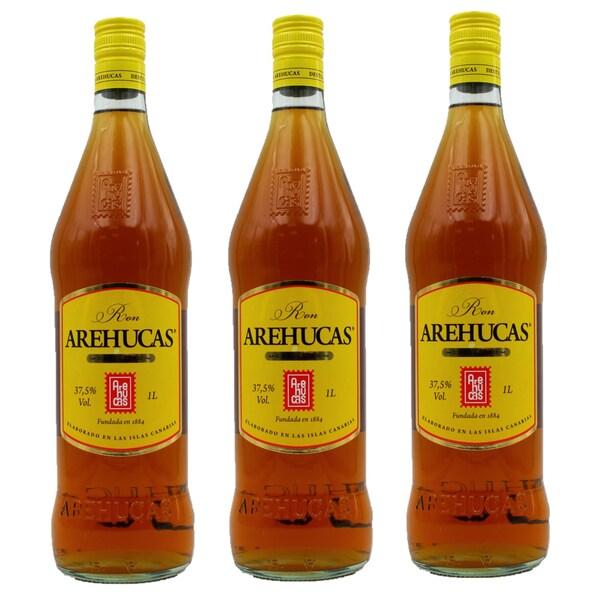 Arehucas Carta Oro Ron Dorado Rum 3 x 1l, 3l
