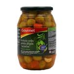 Gourmet Aceitunas verdes partidas aliñadas gazpachas In Gemüse eingelegte grüne Oliven 500g