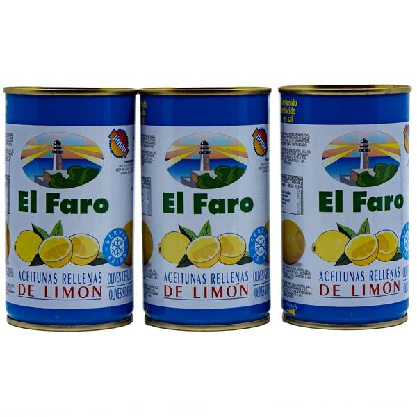 El Faro Oliven gefüllt mit Limonenpaste 3 x 150g, 450g