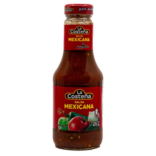 La Costeña Salsa Mexicana grobstückige mittelscharfe Soße 475g