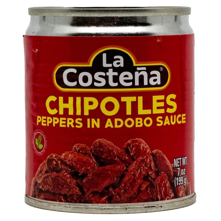 La Costena Chipotles Peppers in Adobo Sauce ganze geröstete rote Jalapeno Chilis in pikanter Soße 199g