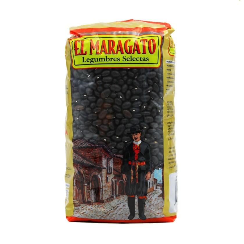 El Maragato schwarze Bohnen Alubias 1kg