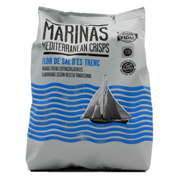 Marinas Mediterranean Crisps Flor de Sal D´Es Trenc Kartoffelchips 150g