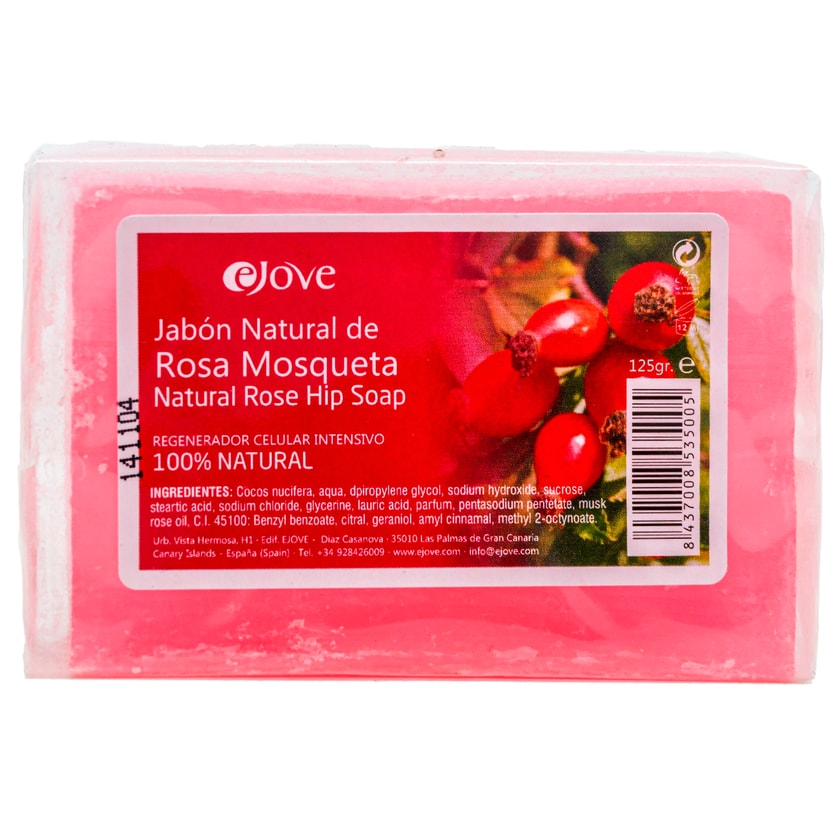 Ejove Jabon Natural de Rosa Mosqueta Hagebuttenseife 125g