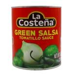 La Costeña Green Salsa Tomatillo Mittelscharfte grobstückige, grüne Soße 2950ml