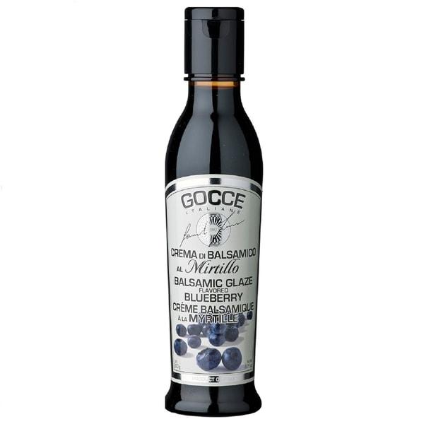 Gocce Crema di Balsamico al Mirtillo Dunkle Balsamicocreme mit Blaubeeraroma 220g