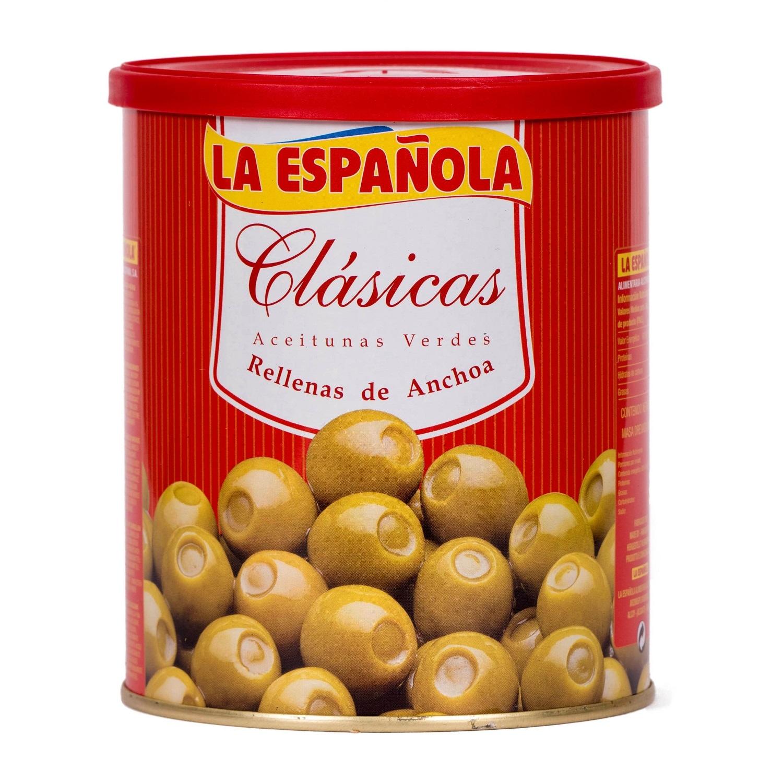 La Española Grüne Oliven mit Sardellen 345g